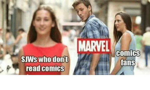 MARVEL Comls SJWs Whodont Read Comics Fans | Tumblr Meme on ME ME