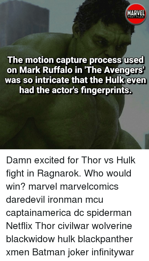 MARVEL FACT FILES the Motion Capture Process Used on Mark