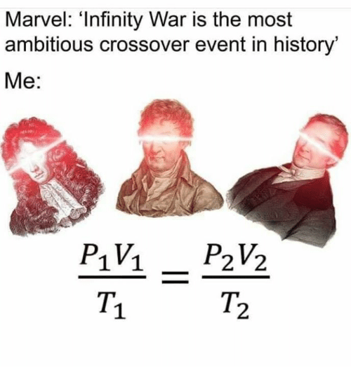 Memes, History, and Infinity: Marvel: 'Infinity War is the most  ambitious crossover event in history  Me:  1V1  T.  1  2