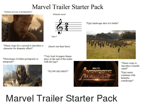 Marvel Trailer Starter Pack Extreme Close-Up of Protagonists