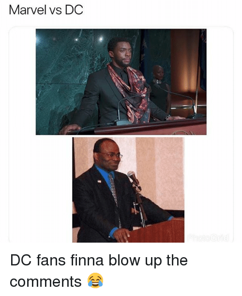 Funny, Marvel, and Finna: Marvel vs DC DC fans finna blow up the comments 😂
