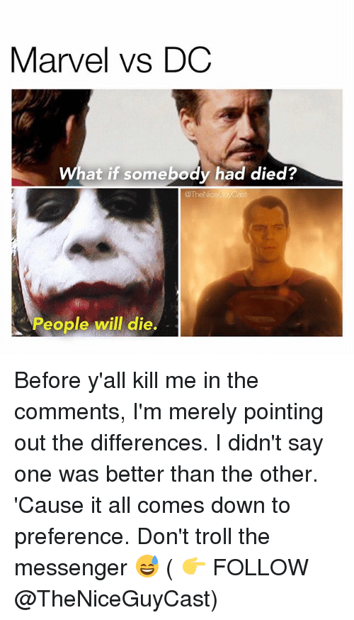 marvel vs dc what if somebody had died people will 18088146 ✅ 25 best memes about marvel vs dc comics marvel vs dc comics