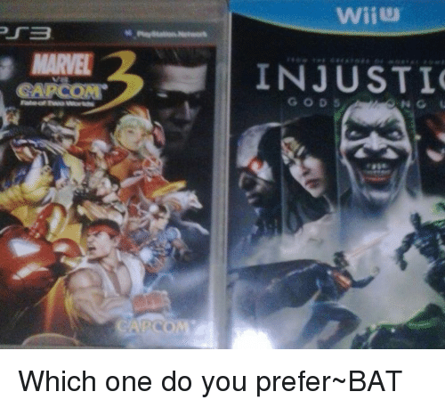 Memes, Marvel, and Marvelous: MARVEL Wii INJUSTI Which one do you prefer~