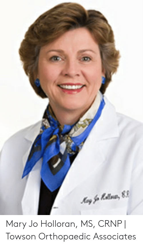 Mary Jo Holloran MS CRNP | Towson Orthopaedic Associates