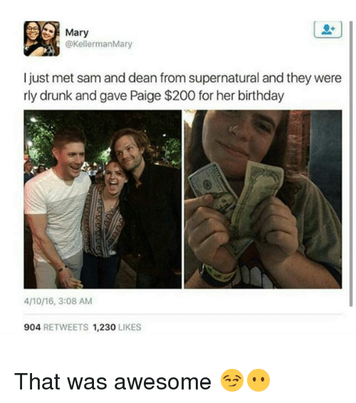 mary kellermanmary i just met sam and dean from supernatural 23028749 ✅ 25 best memes about dean from supernatural dean from