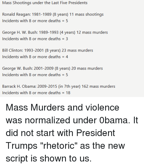 Mass shootings under obama