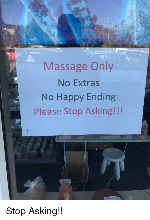 Funny Massage And Happy Massage Only No Extras No Happy Ending Please Stop