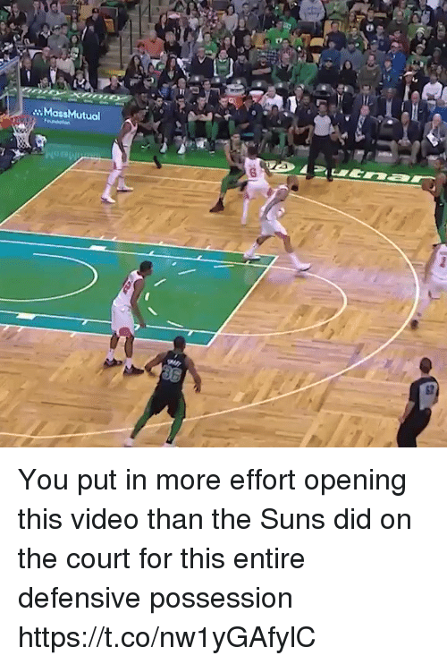 Sports, Video, and Massmutual: MassMutual  82 You put in more effort opening this video than the Suns did on the court for this entire defensive possession https://t.co/nw1yGAfylC