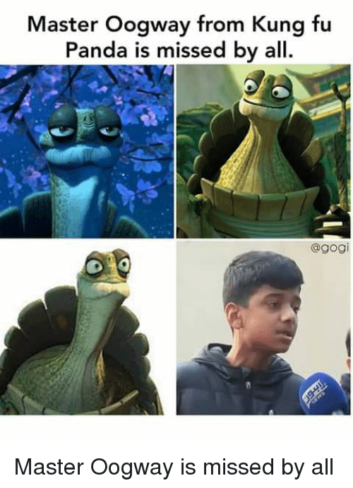 Master Oogway From Kung Fu Panda Is Missed By All Funny Meme On