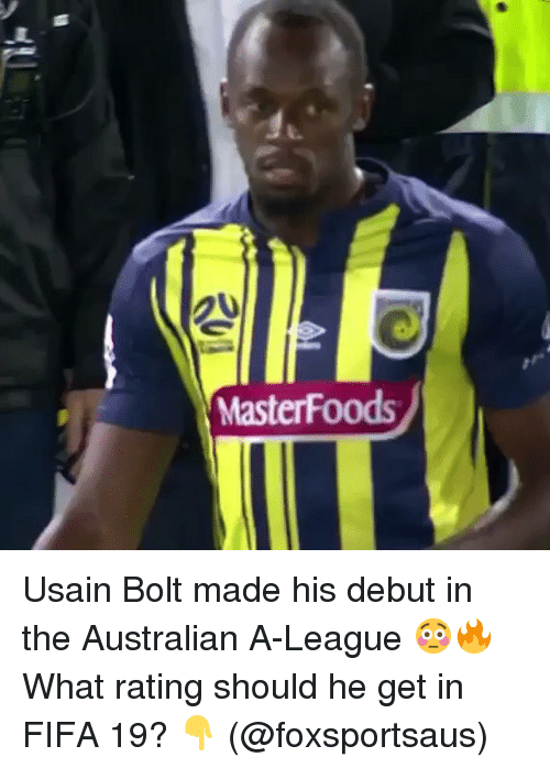 MasterFoods Usain Bolt Made His Debut in the Australian A-League ... a5e151945c