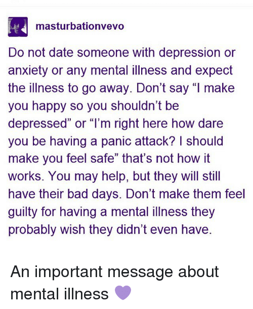 what to expect when dating someone with depression