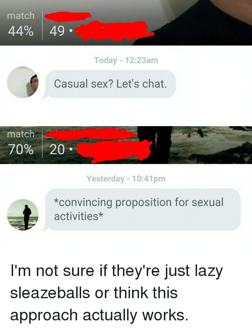 Sex chat work
