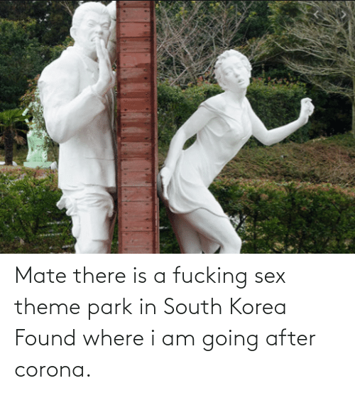 Sex, South Korea, and Korea: Mate there is a fucking sex theme park in South Korea Found where i am going after corona.