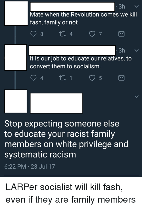 dealing with racist family members