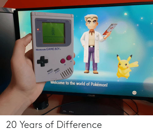 Nintendo, Pokemon, and Game: MATRIX WITH STEREO  BATTERY  Nintendo GAME BOYM  Welcome to the world of Pokémon! 20 Years of Difference