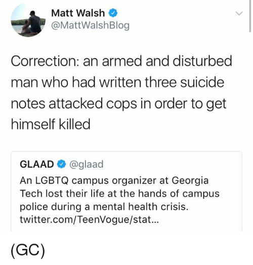 matt walsh mattwalshblog correction an armed and disturbed man who 27833283 ✅ 25 best memes about lgbtq lgbtq memes