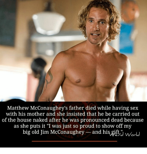 Matthew mcconaughey having sex