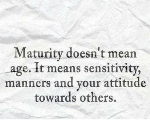 Image result for manners and maturity