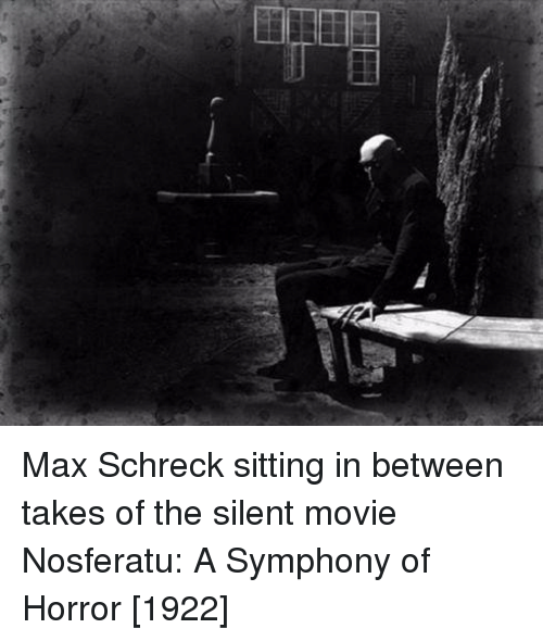Max Schreck Sitting in Between Takes of the Silent Movie Nosferatu a