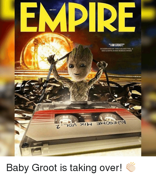 """Memes, 🤖, and May: MAY 2017  """"IAM GROOT!""""  GUARDIANS OF THE GALAXY VOL 2  EXCLUSIVESUBSCRIBER COVER Baby Groot is taking over! 👏🏻"""