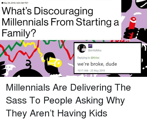 May 24 2018 400 Am Pdt What S Discouraging Millennials From Starting