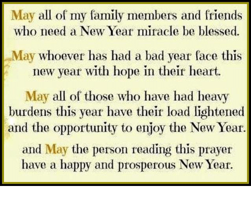 May All of My Family Members and Friends Who Need a New Year Miracle ...