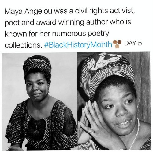a biography of maya angelou an african american poet The death of maya angelou on wednesday was a tragic loss for the literary  that  traces the important history of african american women's literature in the   margaret walker is the first african american poet to win a national.