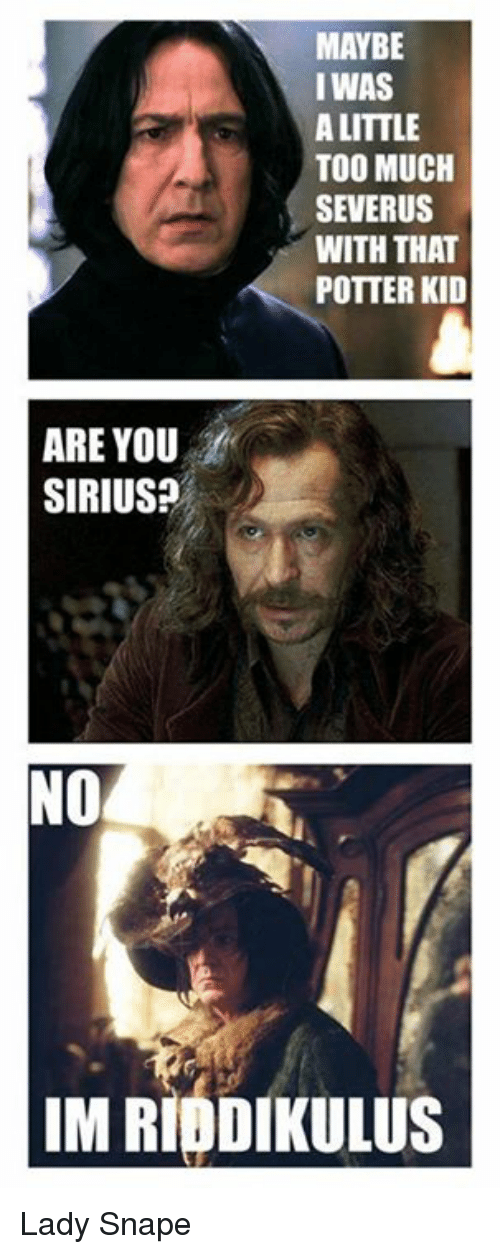 maybe i was a little too much severus with that 25103721 ✅ 25 best memes about are you sirius are you sirius memes
