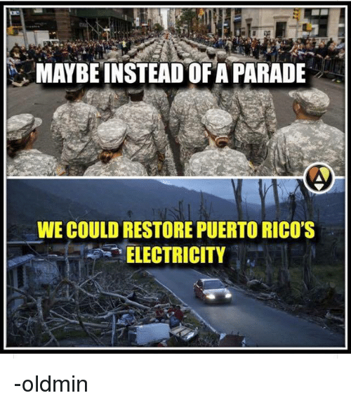 """Persimmon, Electricity, and Maybe: MAYBE INSTEAD OF A PARADE  WE COULD RESTORE PUERTO RICO'S  """"ELECTRICITY -oldmin"""