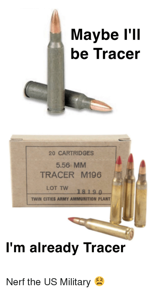 Maybe l'LI Be Tracer 20 CARTRIDGES 556 MM TRACER M196 LOT Tw