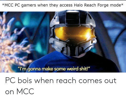 MCC PC Gamers When They Access Halo Reach Forge Mode* I