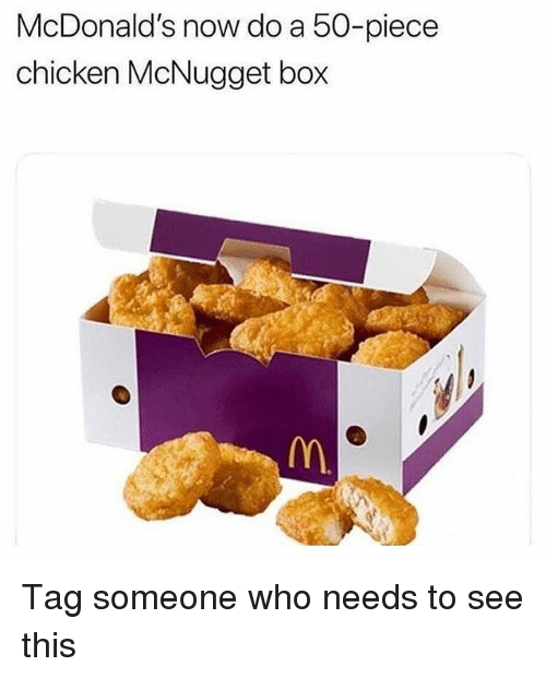 Does Mcdonalds Set up 50 Piece Chicken Nuggets