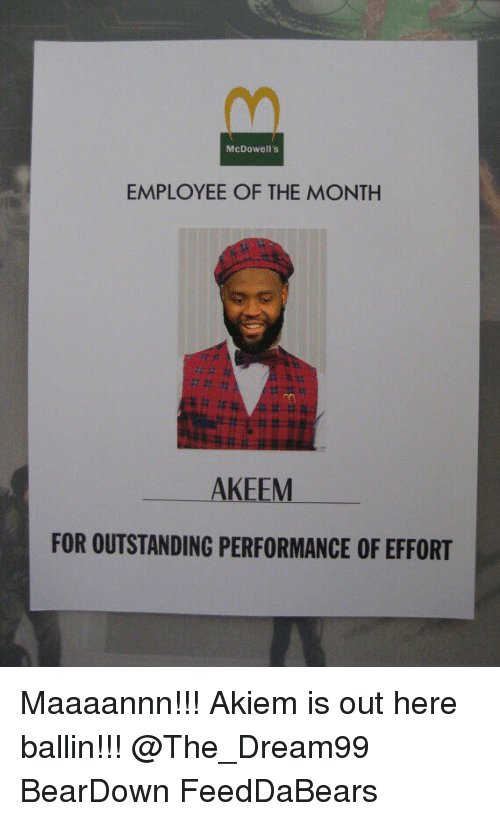 mcdowells employee of the month keem for outstanding performance of 5748763 mcdowell's employee of the month keem for outstanding performance