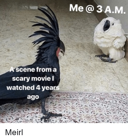Movie, Scary Movie, and MeIRL: Me a 3 A.M  A scene froma  scary movie l  watched 4 years  ago Meirl