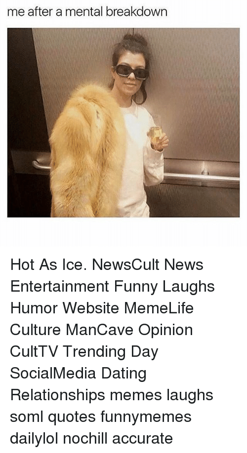 Me After A Mental Breakdown Hot As Ice Newscult News