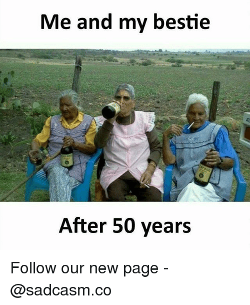 Memes, 🤖, and Page: Me and my bestie  After 50 years Follow our new page - @sadcasm.co