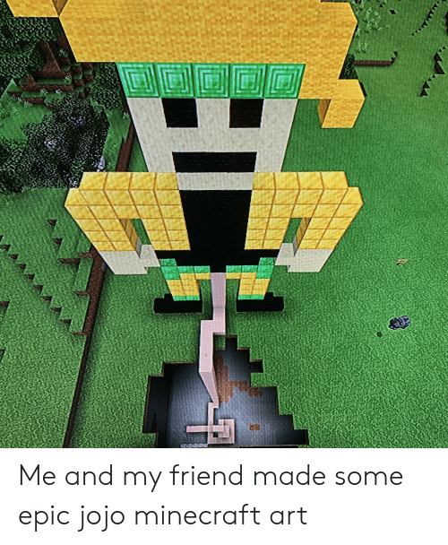 Me and My Friend Made Some Epic Jojo Minecraft Art