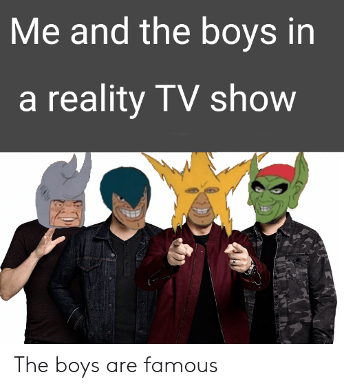Me And The Boys In A Reality Tv Show The Boys Are Famous Dank
