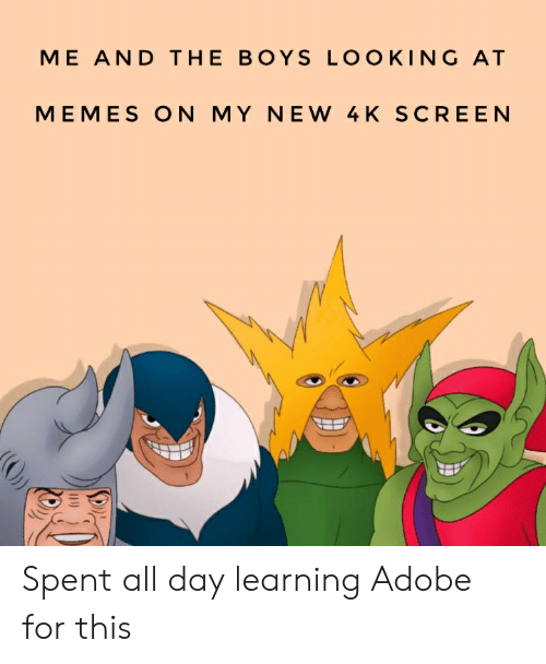 ME AND THE BOYS LOOKING AT MEMES ON MY NEW 4 K SCREEN Spent All Day