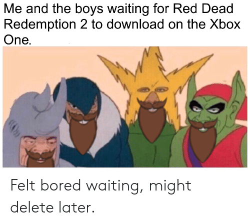 Me and the Boys Waiting for Red Dead Redemption 2 to