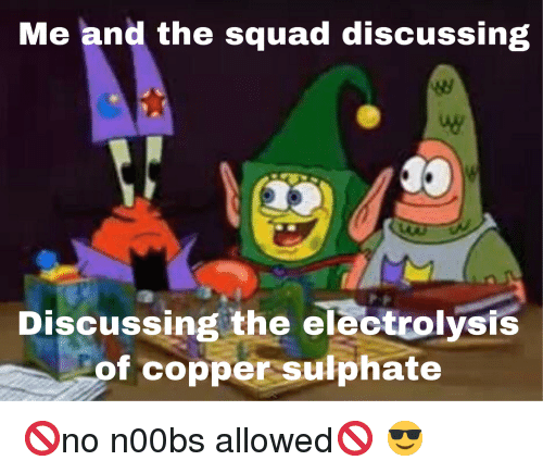 Me and the Squad Discussing Discussing the Electrolysis F