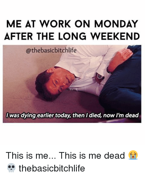 me at work on monday after the long weekend thebasic 18033028 ✅ 25 best memes about long weekend long weekend memes,Are You Free This Weekend Meme