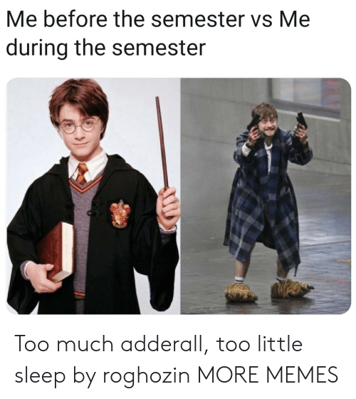 Dank, Memes, and Target: Me before the semester vs Me  during the semester Too much adderall, too little sleep by roghozin MORE MEMES