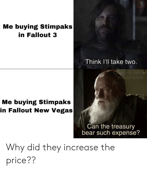 Me Buying Stimpaks in Fallout 3 Think I'll Take Two ME