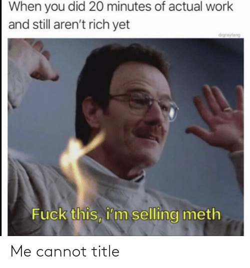 Cannot, Title, and Me: Me cannot title