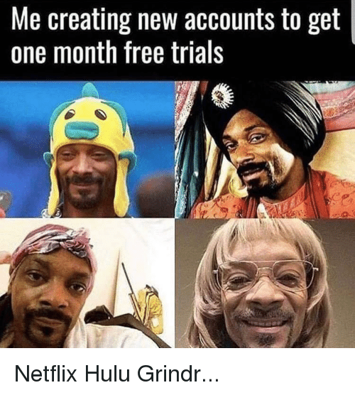 Me Creating New Accounts to Get One Month Free Trials | Hulu