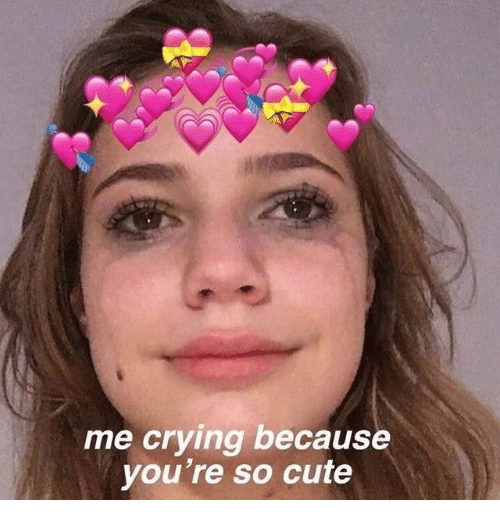 Me Crying Because You're So Cute | Crying Meme on ME ME