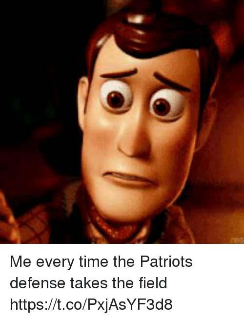 Patriotic, Tom Brady, and Time: Me every time the Patriots defense takes the field https://t.co/PxjAsYF3d8