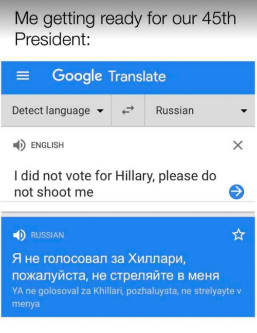 Google Memes And Presidents Me Getting Ready For Our 45th President