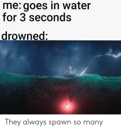 Me Goes in Water for 3 Seconds Drowned They Always Spawn So Many